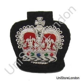 Badge crown Silver on black  Sold each